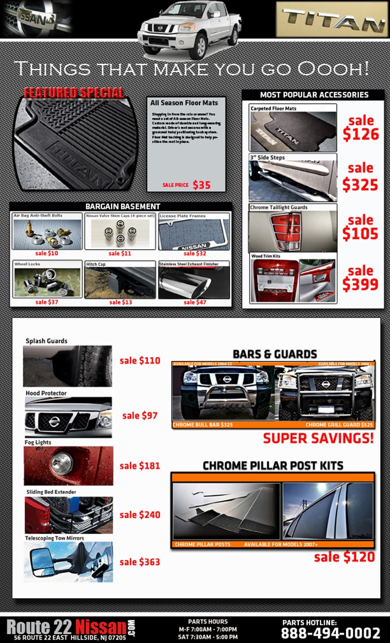 Route 22 Nissan Service Used Dealership In Hillside Nj 07205 Spescial Order Parts By Request Directions