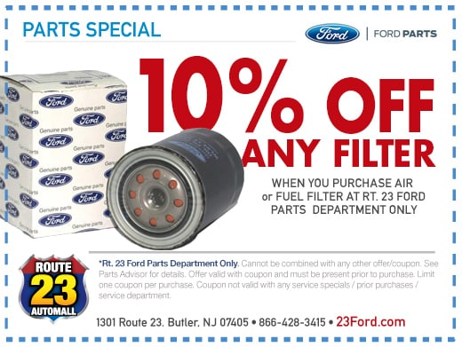 Ford Parts Specials Route 23 Auto Mall