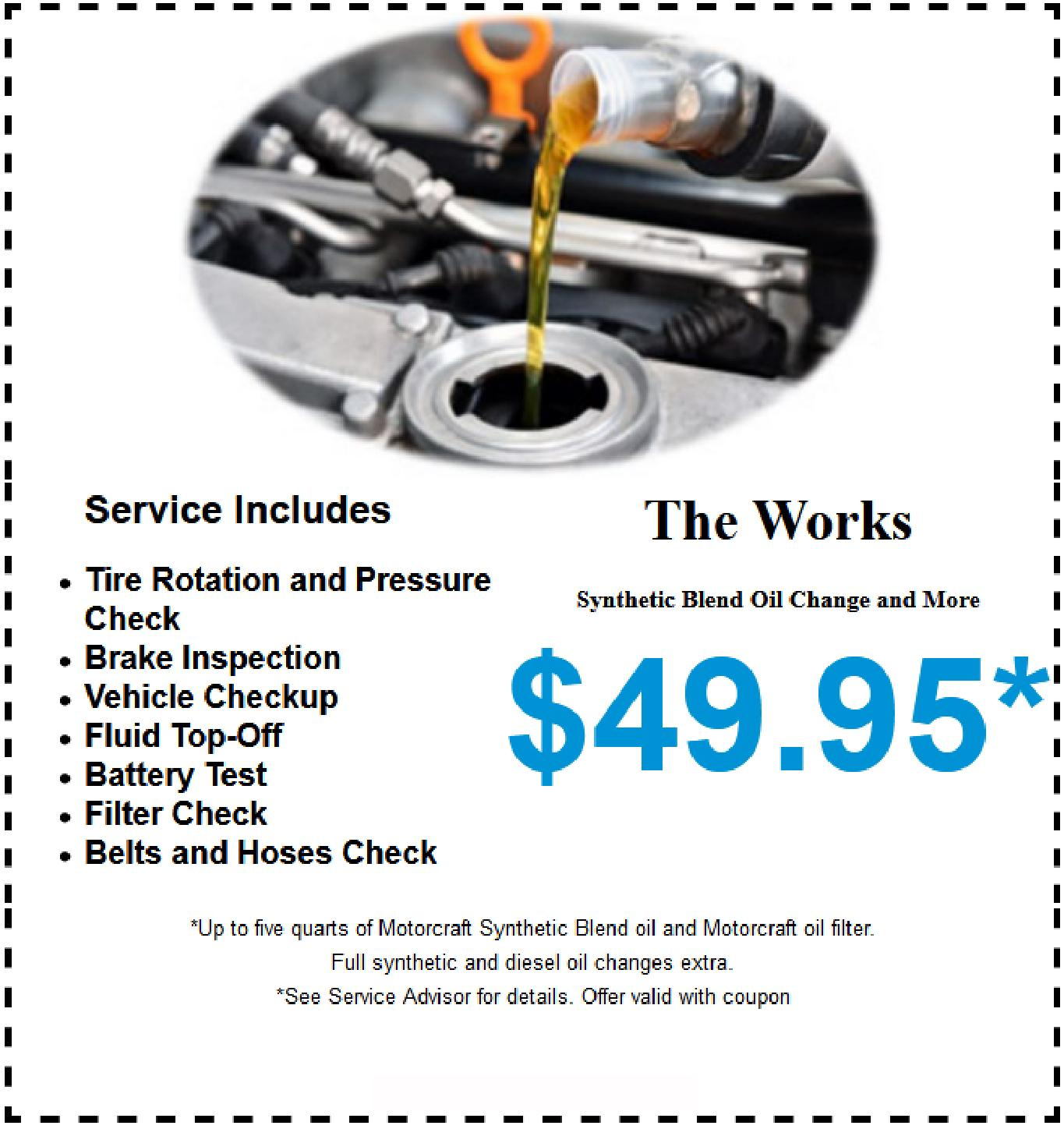 Oil Change Near Me Cheap >> Ford Oil Change Special New Jersey Route 23 Auto Mall