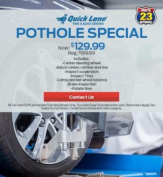 Pot Hole Special!