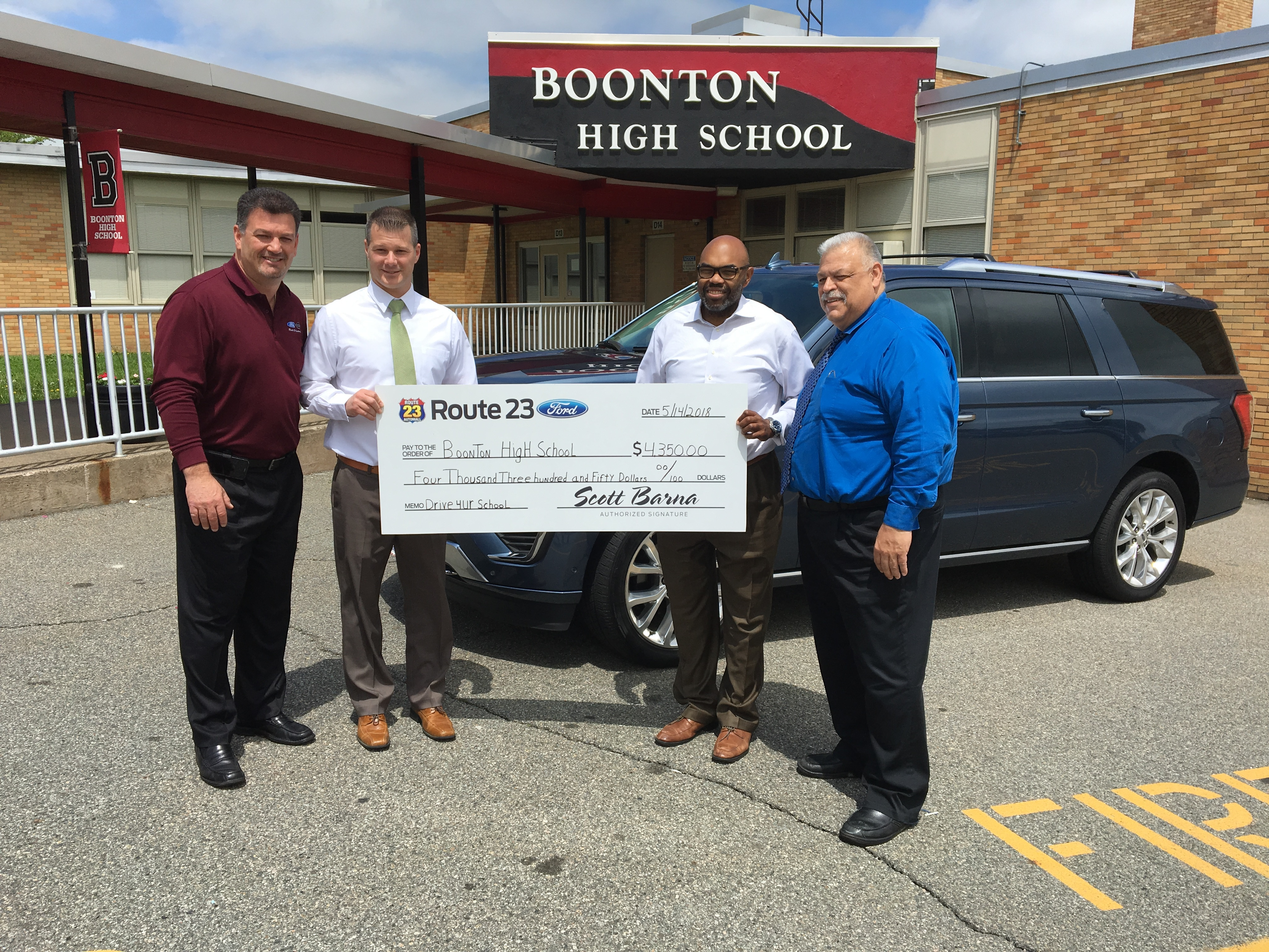 Ford Drive 4 UR School Event Earns $4 350 for Boonton High School