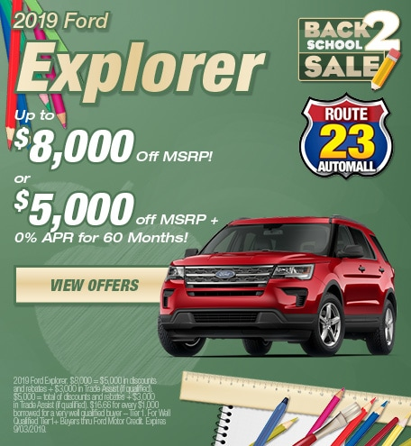 New Ford Specials New Jersey | Route 23 Auto Mall
