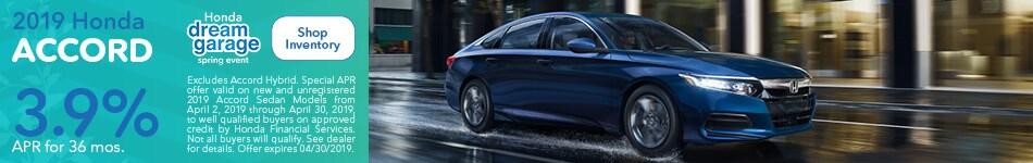 2019 Honda Accord April Offer