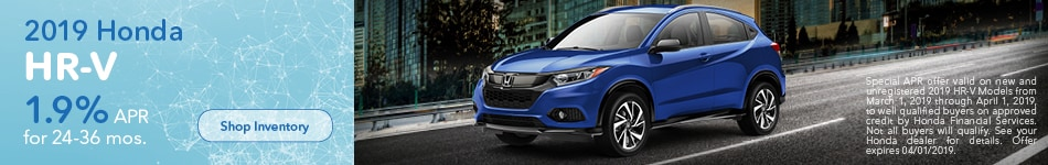 2019 Honda HR-V March Offer