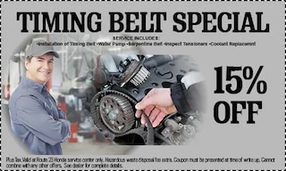 15% Off Timing Belt Special