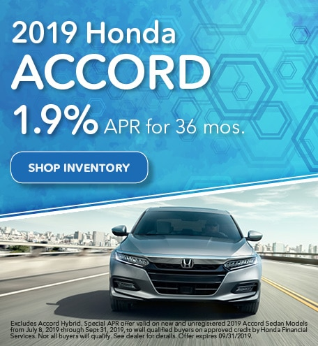 2019 Accord July Offer