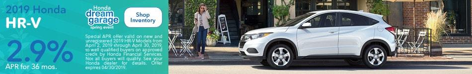 2019 Honda HR-V April Offer