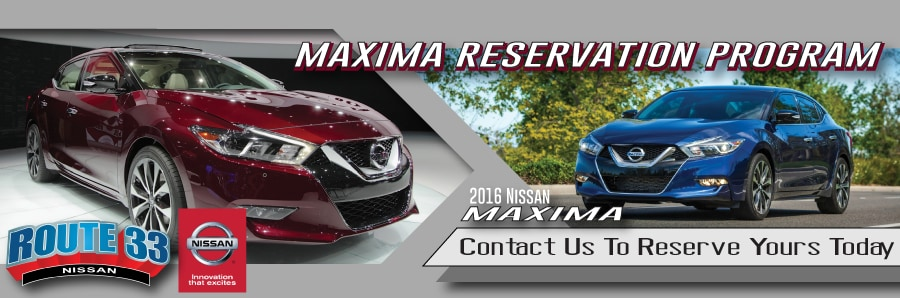 Rt 33 Nissan >> New Reserve Your 2016 Maxima Today Route 33 Nissan