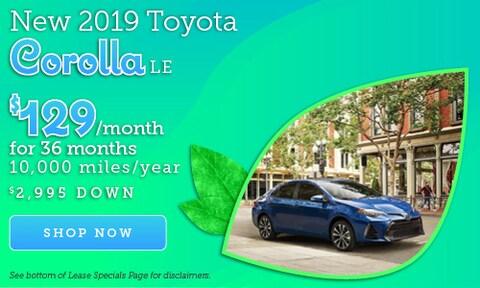 April 2019 Corolla Offer