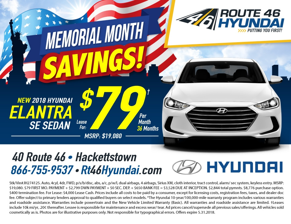 New Hyundai Lease Specials In Hackettstown Nj