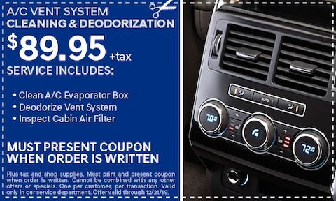 A/C Vent System Cleaning & Deodorization