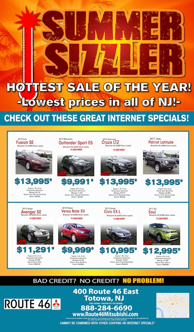 Used Car Specials | Route 46 Mitsubishi in Totowa, NJ