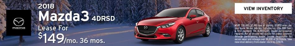 Lease 2018 Mazda3 2/13