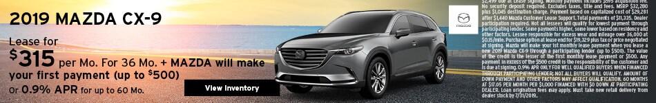 New 2019 Mazda CX-9 7/8/2019