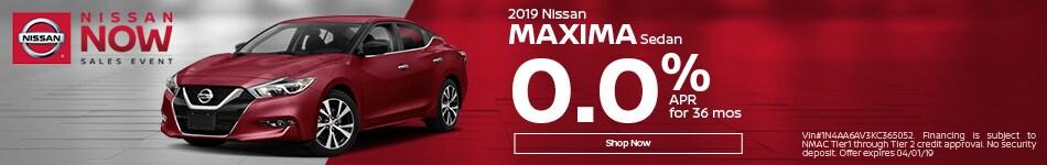 2019 Maxima Mar Offer