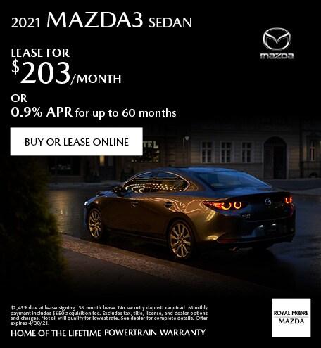 April 2021 Mazda3
