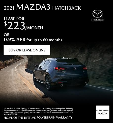 April 2021 Mazda3 Hatchback