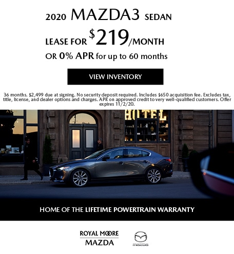 October 2020  Mazda3 Sedan