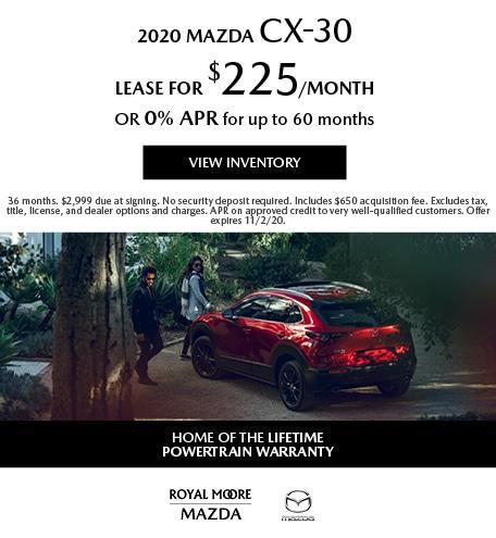 October 2020 Mazda CX-30
