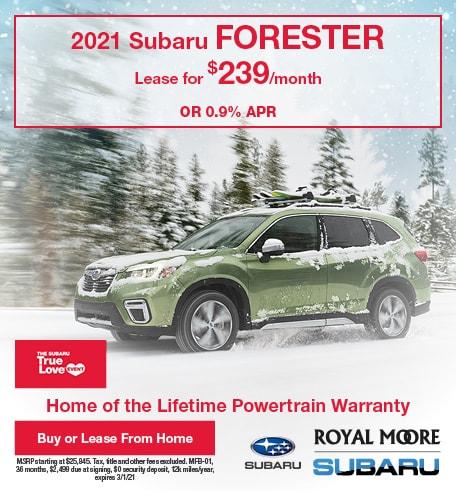 February 2021 Subaru Forester