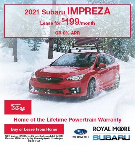 February 2021 Subaru Impreza