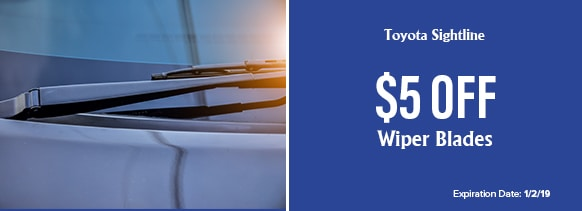 Royal Moore Toyota Sightline - $5 off Wiper Blades