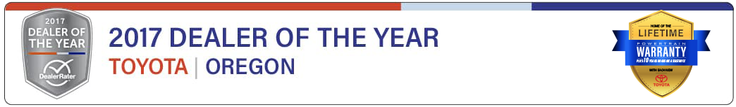 Toyota Oregon Dealer of the Year