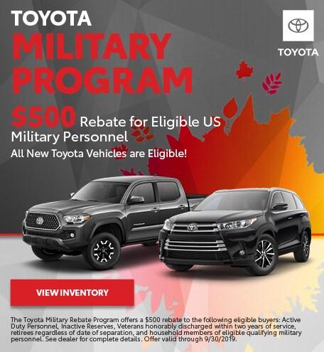 September 2019 Military Program