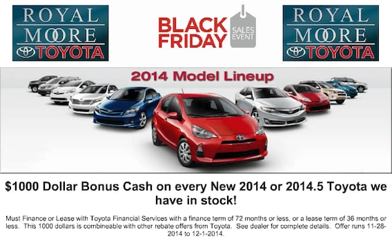 Toyota Finance Deals >> Black Friday Toyota Offers Royal Moore Toyota