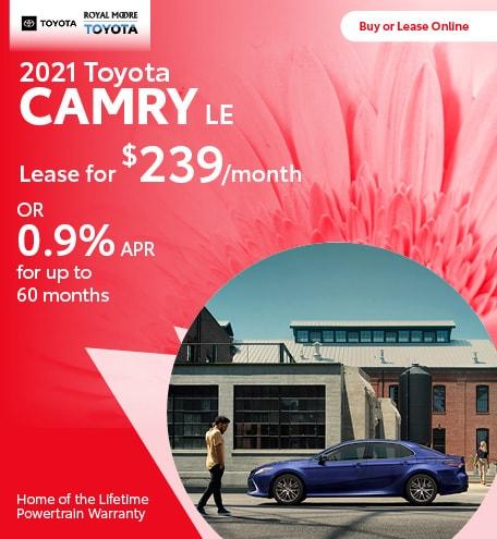 April 2021 Toyota Camry