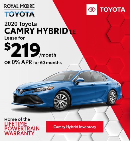 October 2020 Toyota Camry Hybrid LE