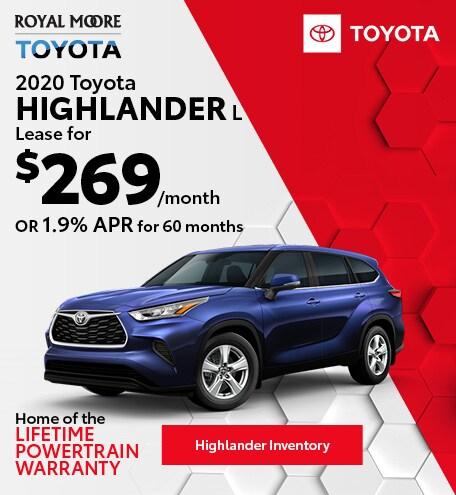 October 2020 Toyota Highlander L