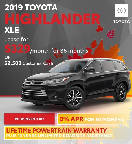 September 2019 Toyota Highlander