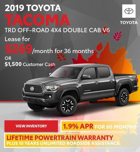 September 2019 Toyota Tacoma