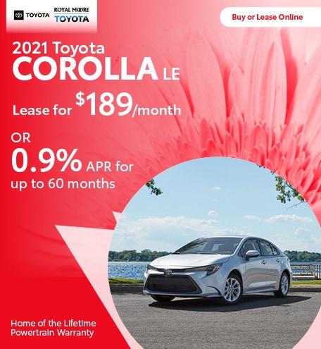 April 2021 Toyota Corolla