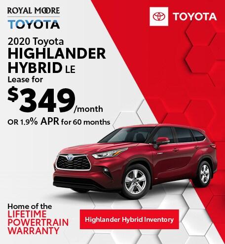 October 2020 Toyota Highlander Hybrid LE