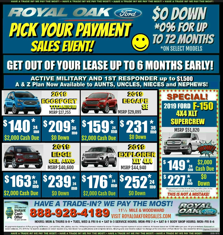 Royal Oak Ford Weekly Newspaper Ad Royal Oak Mi Ford Dealer
