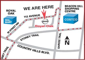 Royal Oak Nissan Location Map