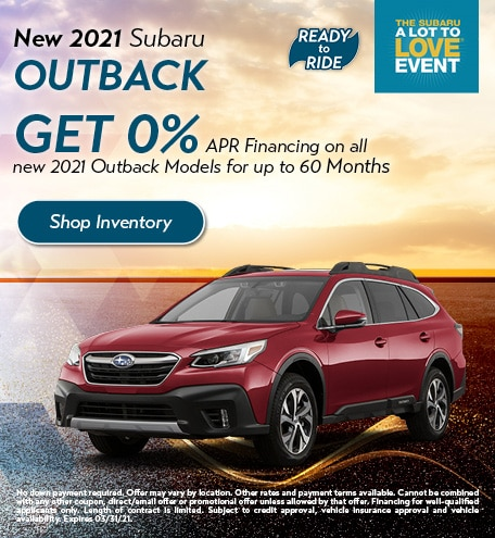 March 2021 Outback Special