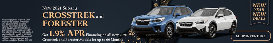 January 2021 Crosstrek and Forester Special