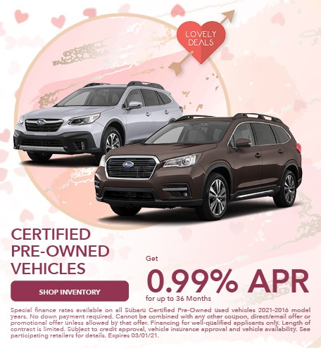 February 2021 CPO Low Financing Special