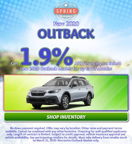 March 2020 Outback Special