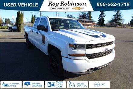 Featured Used 2018 Chevrolet Silverado 1500 Silverado Custom Truck Double Cab TP19308 for sale in Marysville, WA