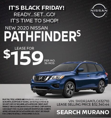 2020 Nissan Pathfinder November Offer