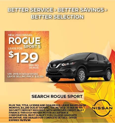 2020 Nissan Rogue Sport October Offer