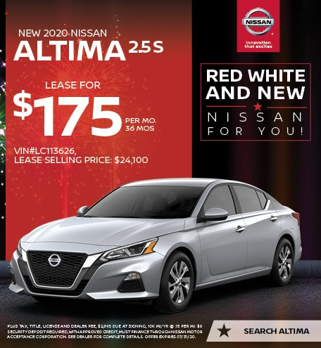 2020 Nissan Altima July Offers