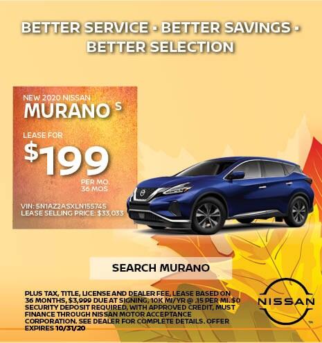 2020 Nissan Murano October Offer