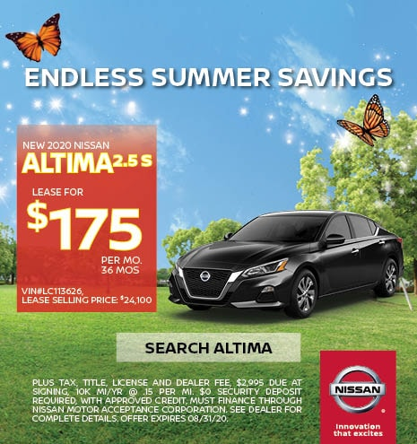 2020 Nissan Altima August Offer