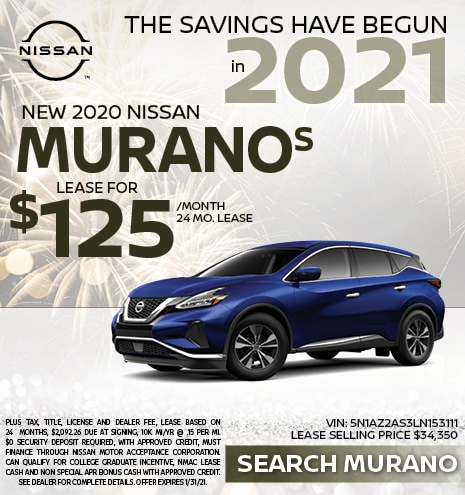 2020 Nissan Murano January Offer