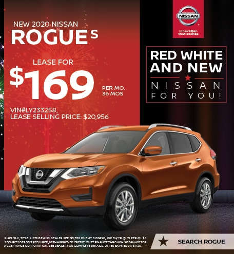 2020 Nissan Rogue July Offers